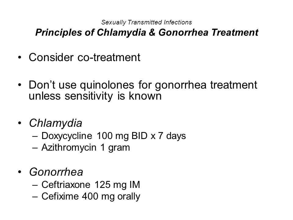 Consider co-treatment