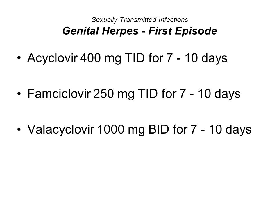 Sexually Transmitted Infections Genital Herpes - First Episode