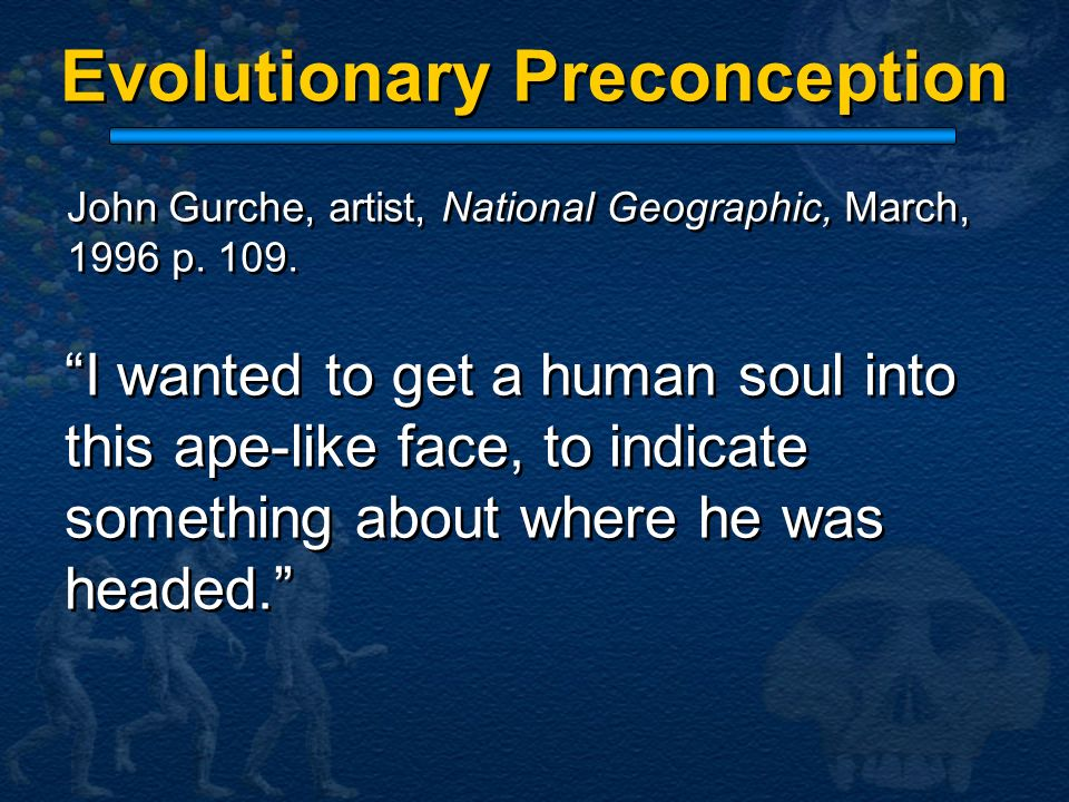 Evolutionary Preconception