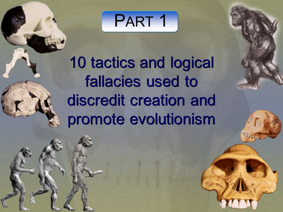 PART 1 10 tactics and logical fallacies used to discredit creation and promote evolutionism