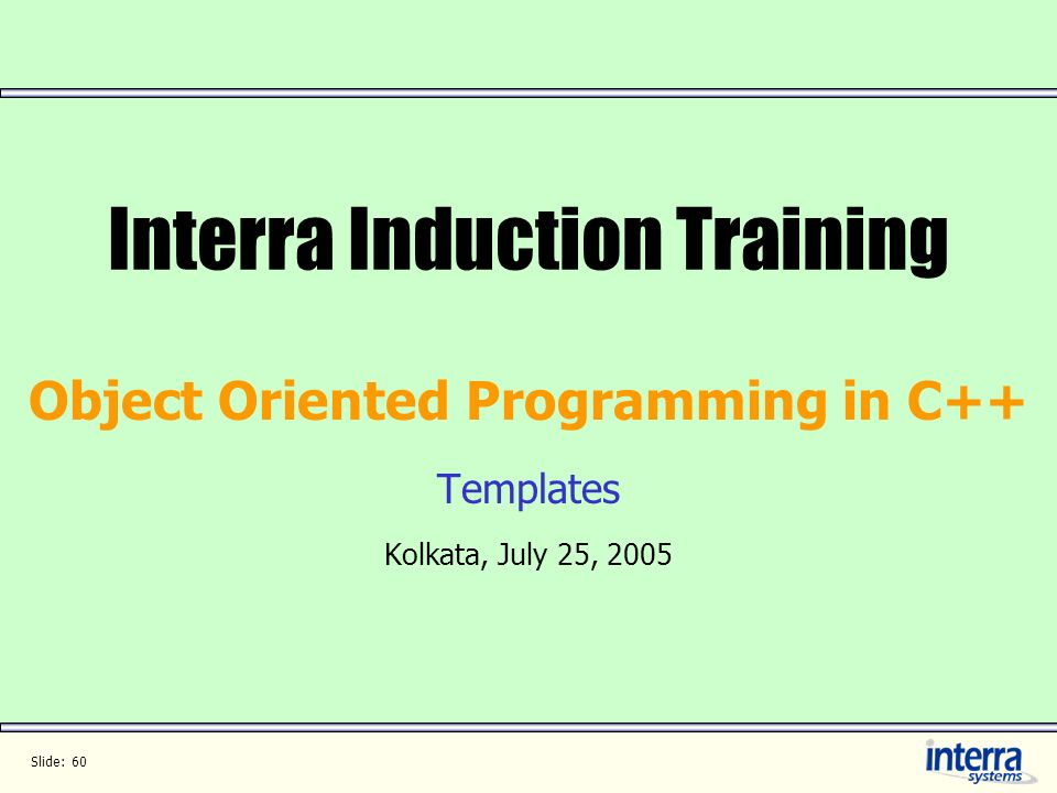 Interra Induction Training