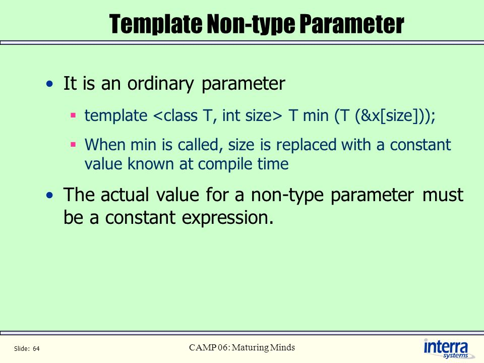 Template Non-type Parameter