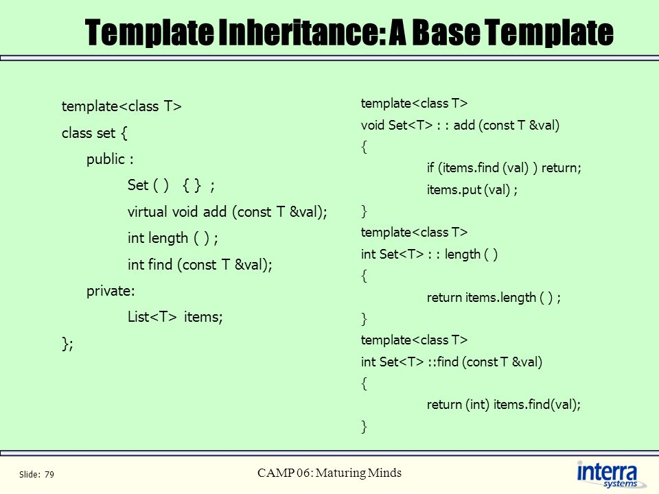 Template Inheritance: A Base Template