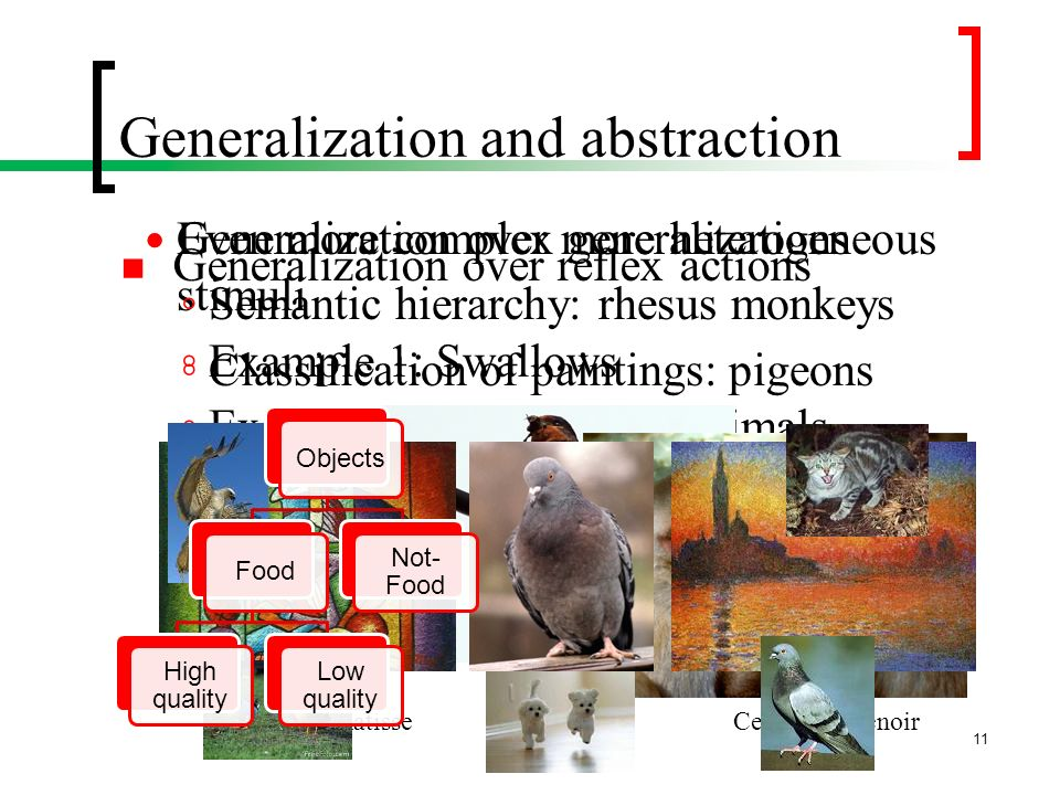 Generalization and abstraction