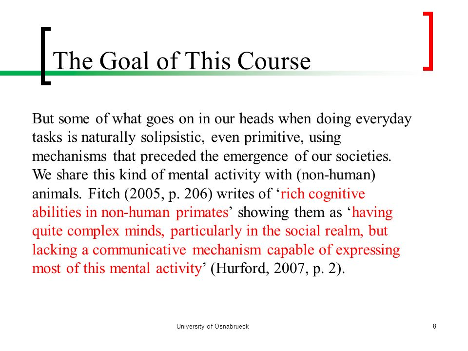 The Goal of This Course