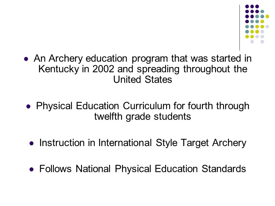 Instruction in International Style Target Archery
