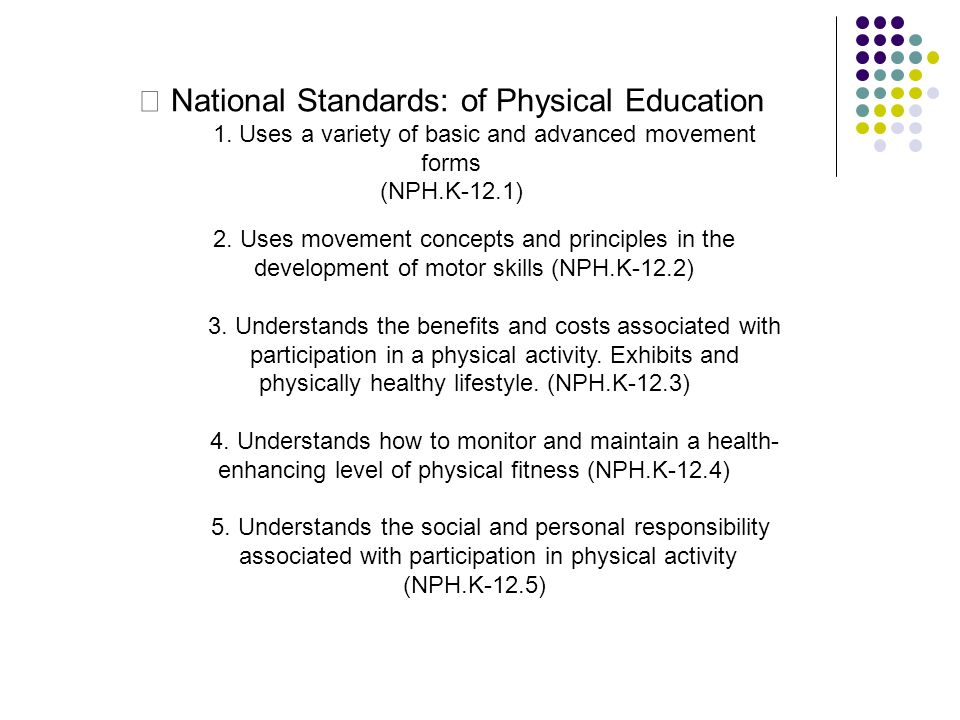 • National Standards: of Physical Education