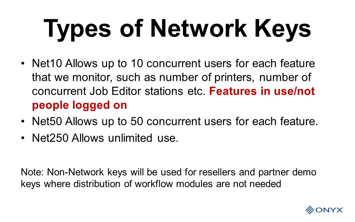 Types of Network Keys