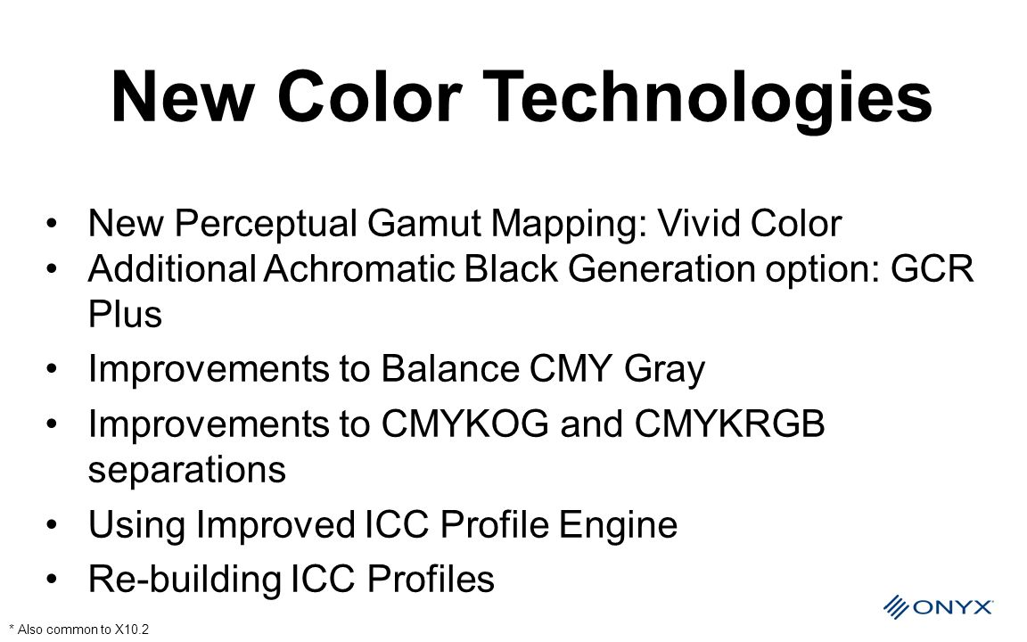 New Color Technologies