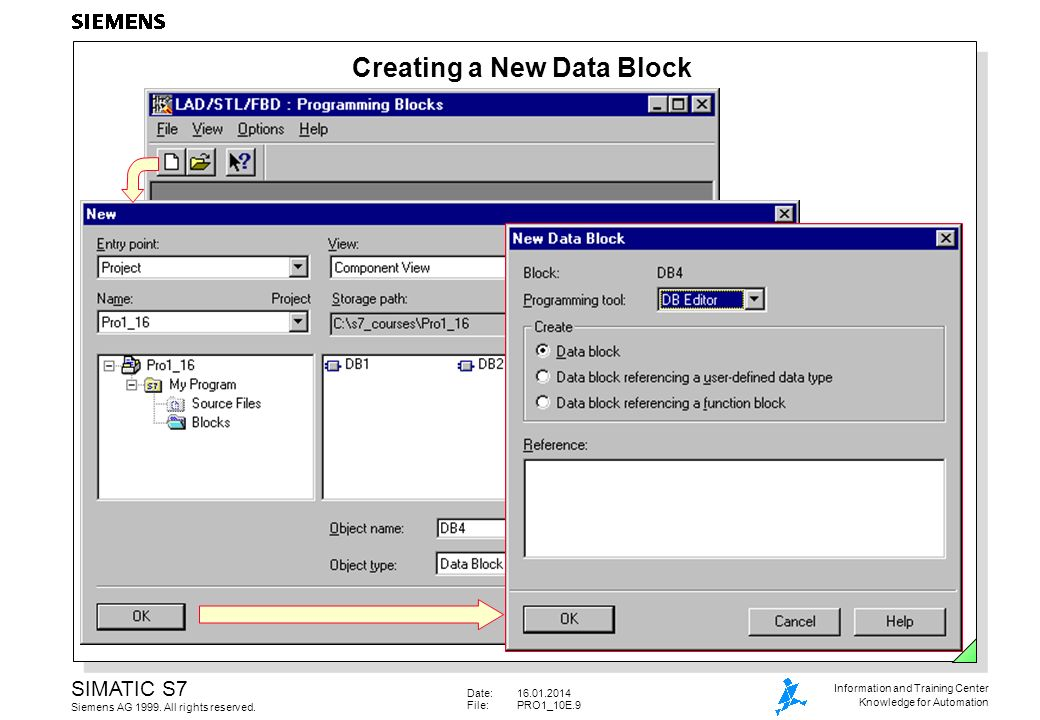 Creating a New Data Block