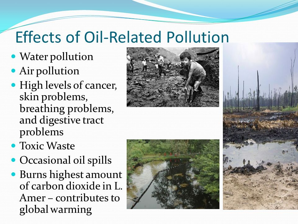 Effects of Oil-Related Pollution