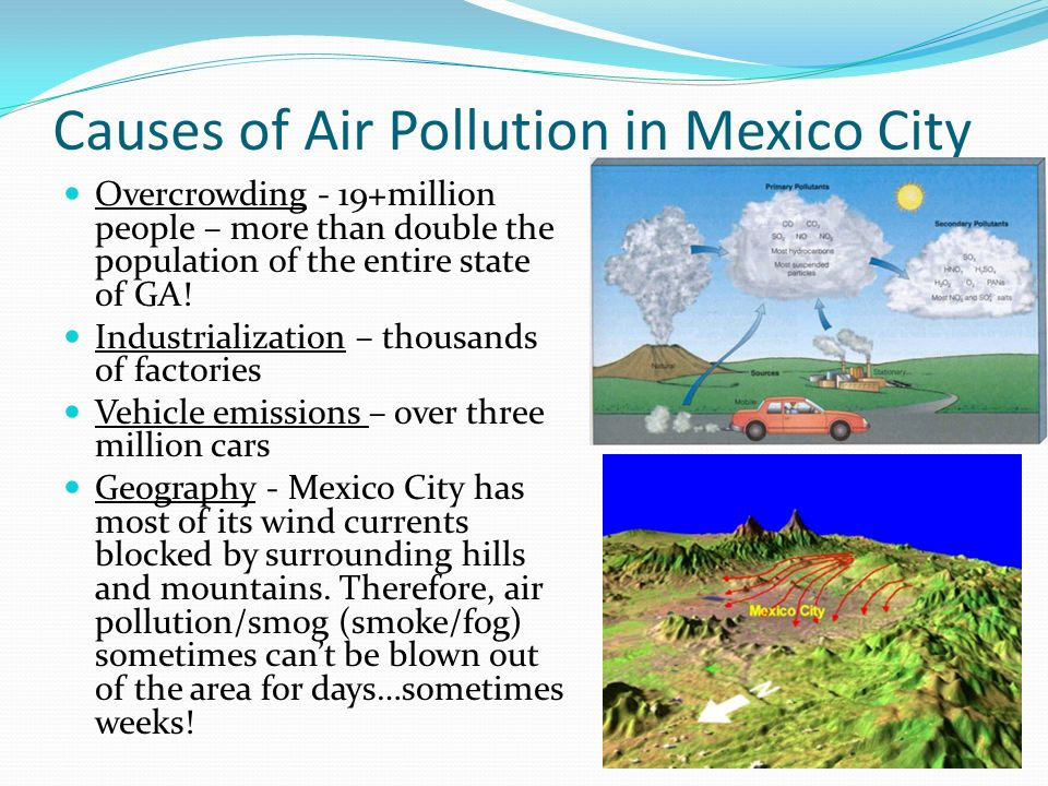Causes of Air Pollution in Mexico City