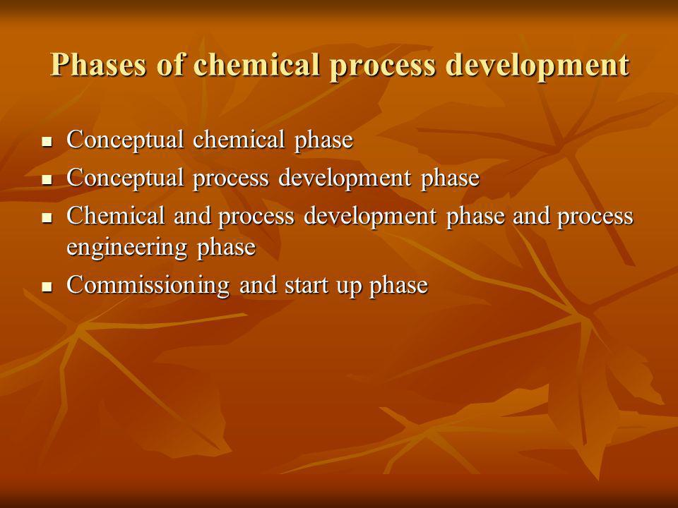 Phases of chemical process development