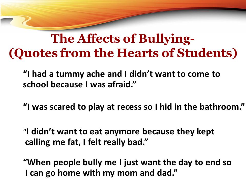 Quotes fat bullying The Effects
