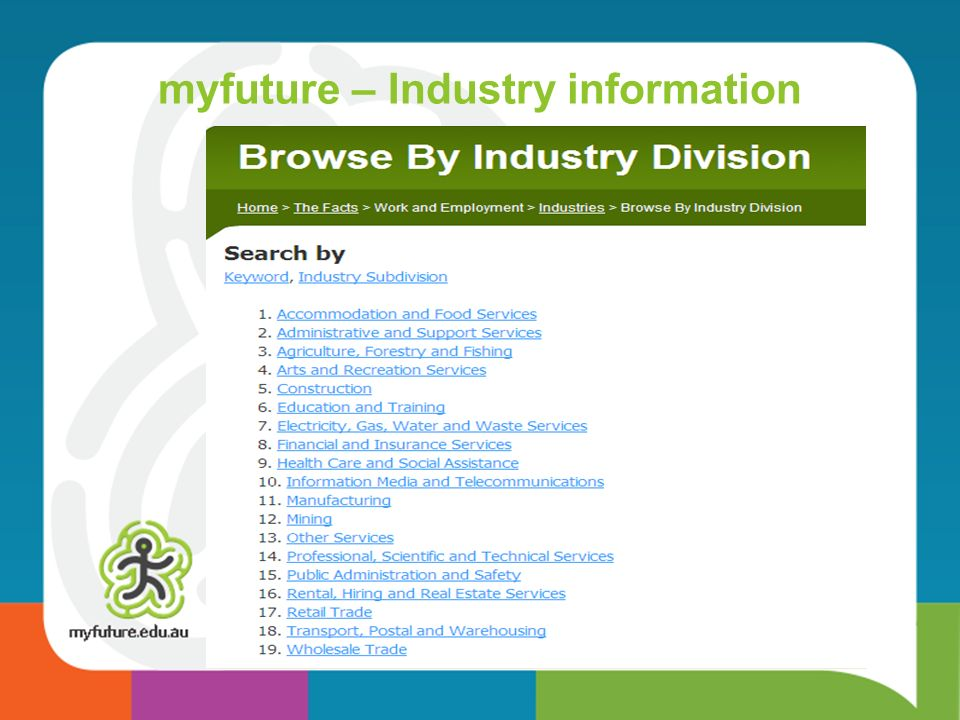 myfuture – Industry information