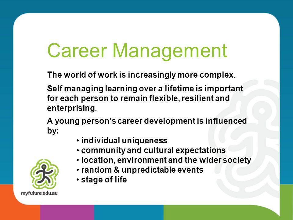 Career Management The world of work is increasingly more complex.