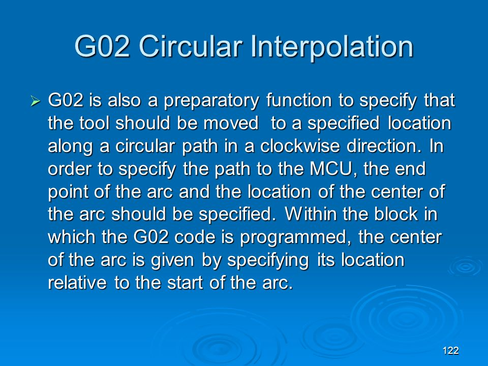 G02 Circular Interpolation