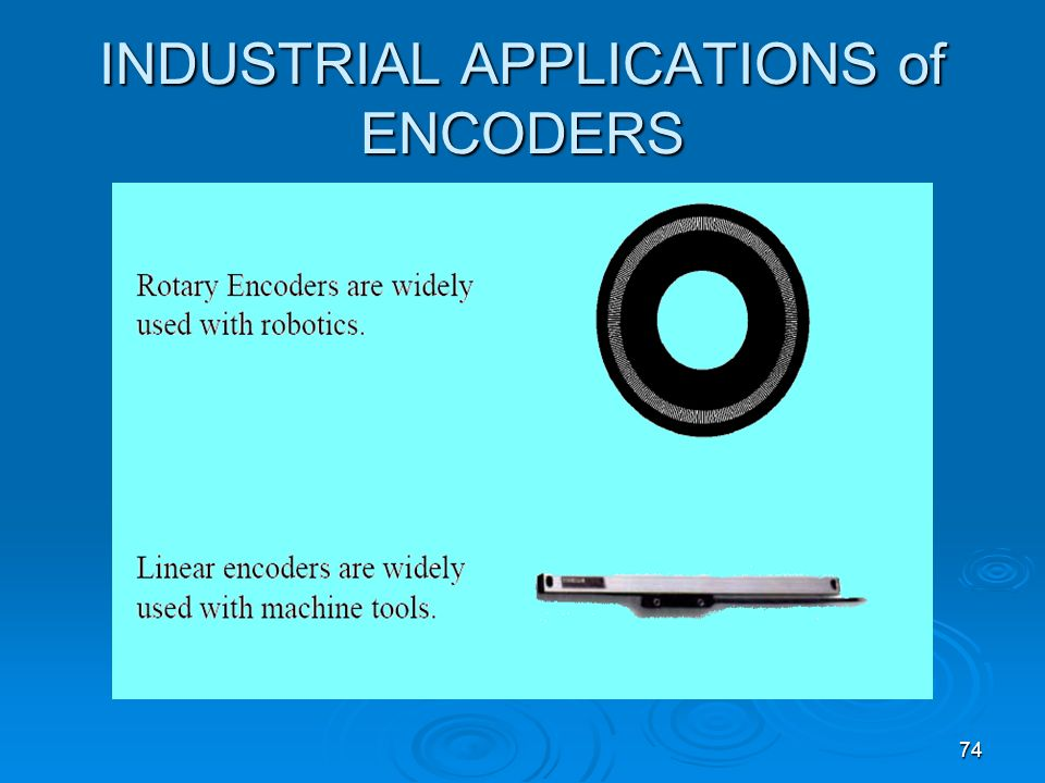 INDUSTRIAL APPLICATIONS of ENCODERS