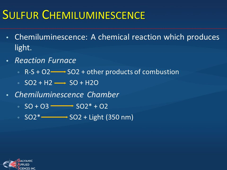 Sulfur Chemiluminescence