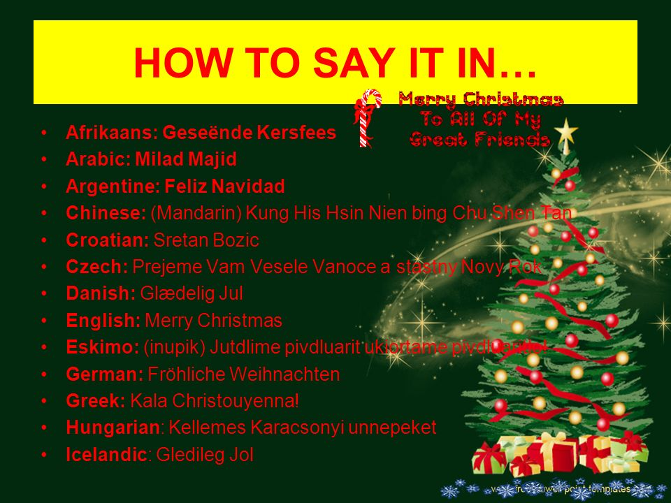 merry christmas in many languages croatian included 2 how - Merry Christmas In Greek Language