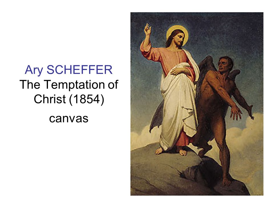 Ary SCHEFFER The Temptation of Christ (1854) canvas