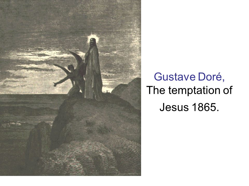 Gustave Doré, The temptation of Jesus 1865.