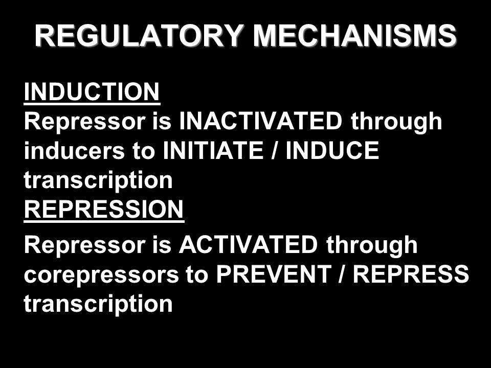 REGULATORY MECHANISMS