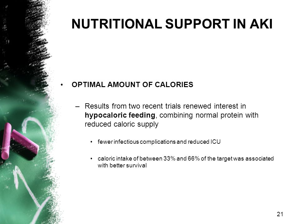 NUTRITIONAL SUPPORT IN AKI