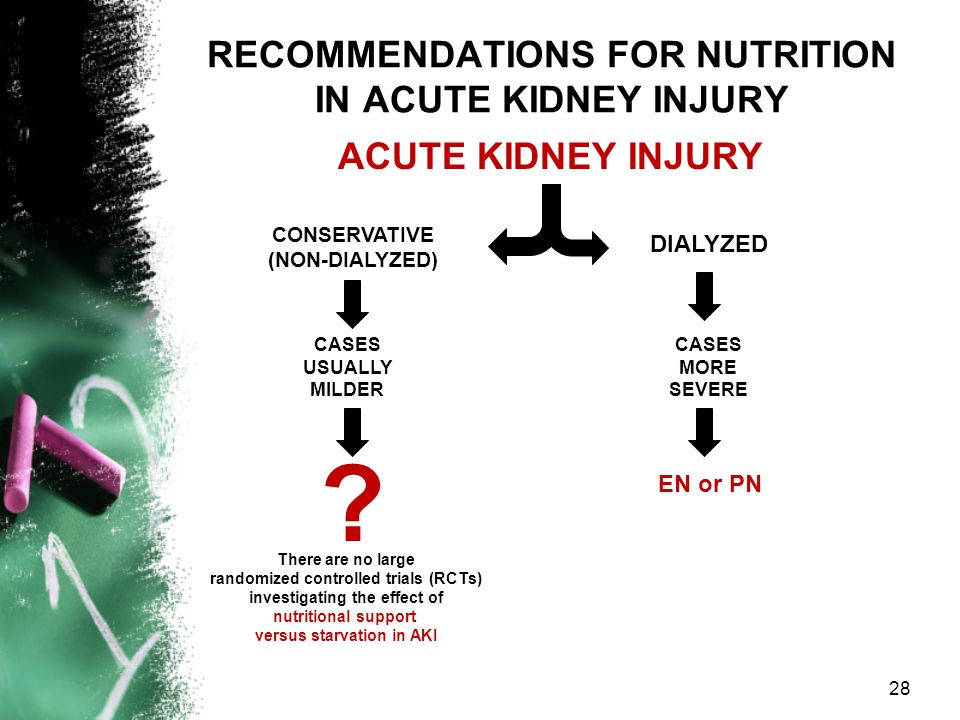 RECOMMENDATIONS FOR NUTRITION IN ACUTE KIDNEY INJURY