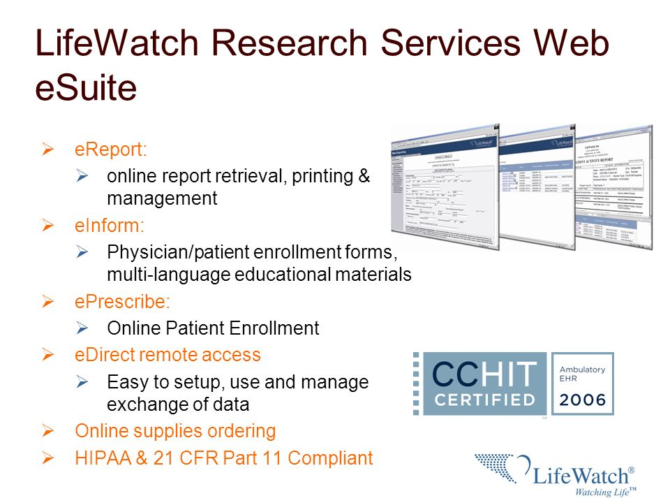 LifeWatch Research Services Web eSuite