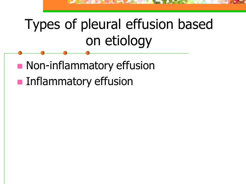 Types of pleural effusion based on etiology