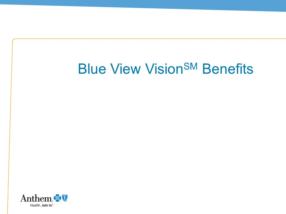 Blue View VisionSM Benefits