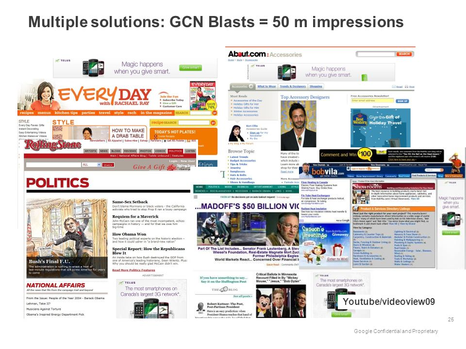 Multiple solutions: GCN Blasts = 50 m impressions