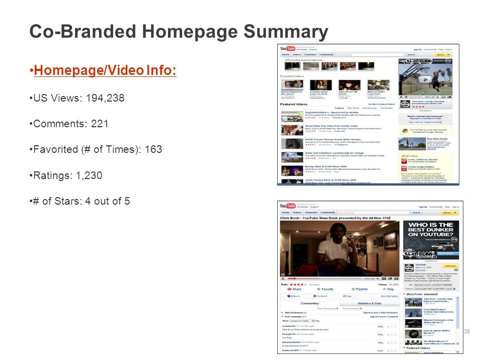 Co-Branded Homepage Summary