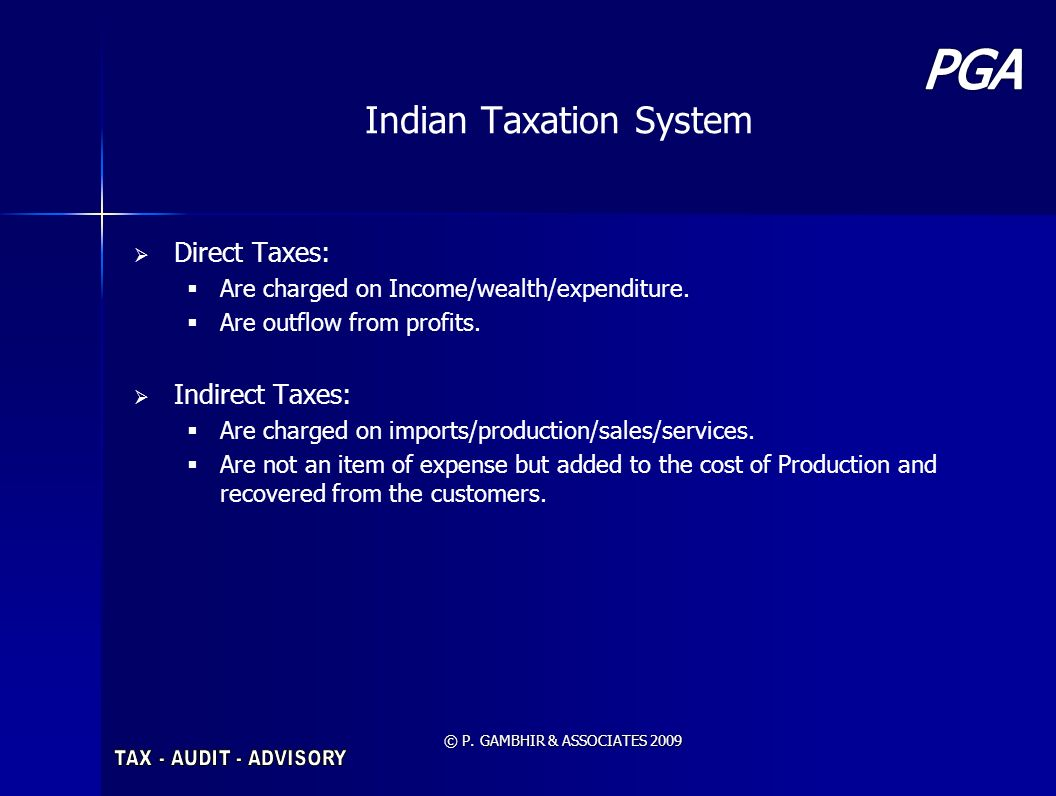 Indian Taxation System