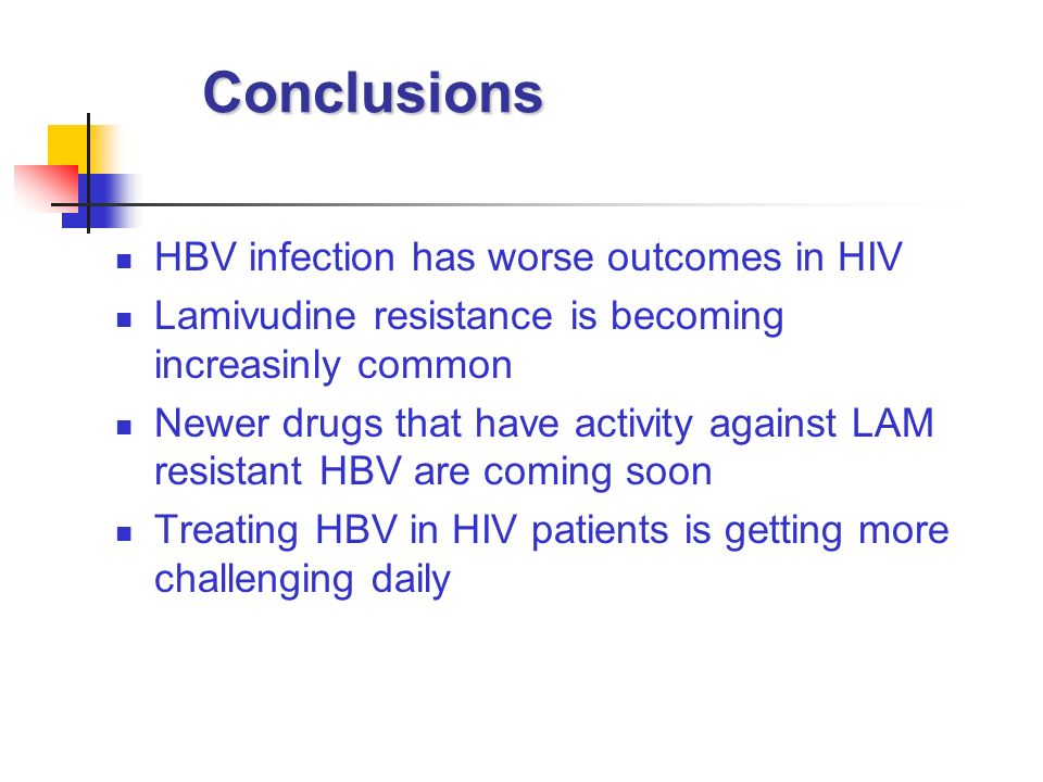 Conclusions HBV infection has worse outcomes in HIV