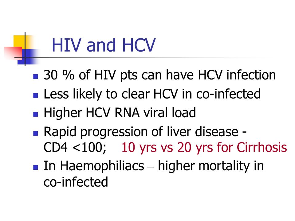 HIV and HCV 30 % of HIV pts can have HCV infection