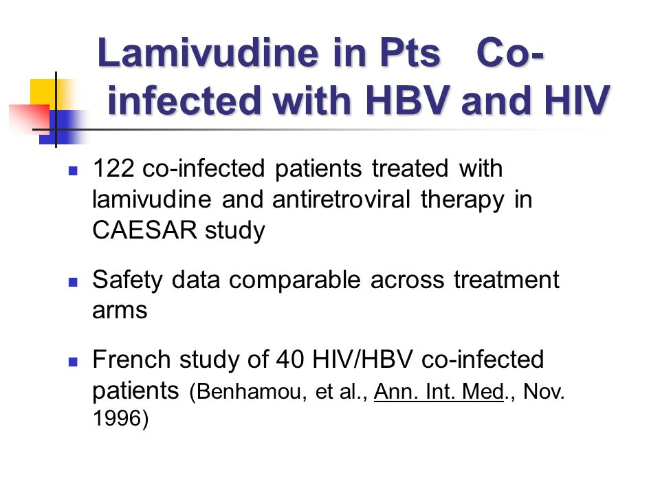 Lamivudine in Pts Co- infected with HBV and HIV