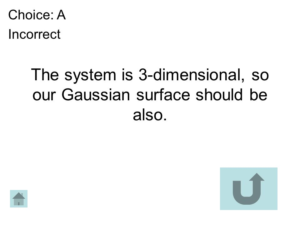 The system is 3-dimensional, so our Gaussian surface should be also.