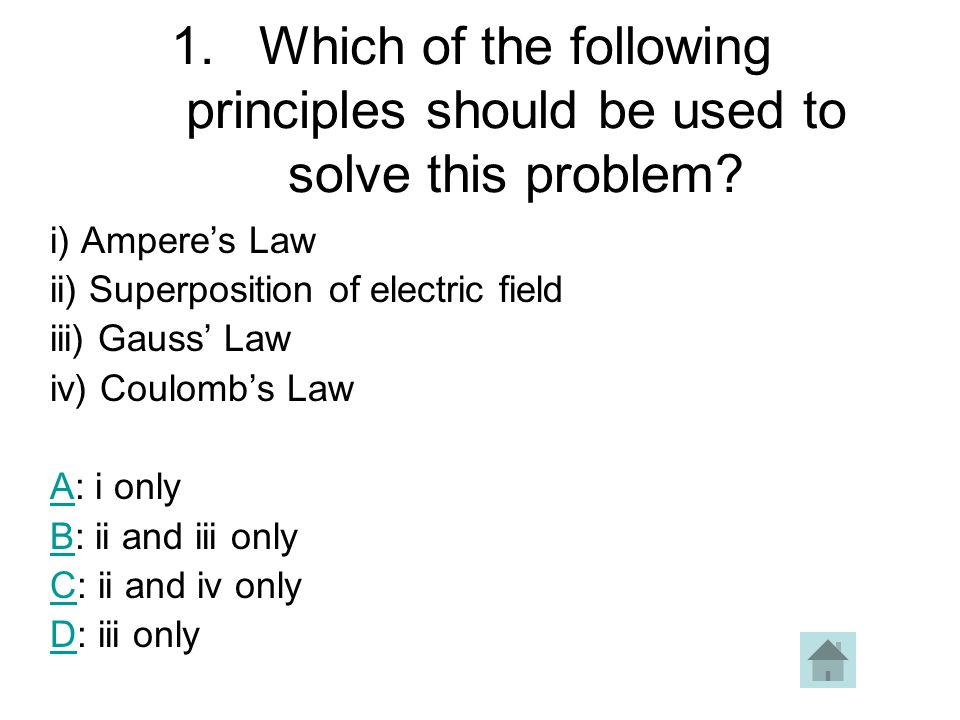 Which of the following principles should be used to solve this problem