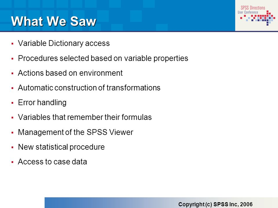 What We Saw Variable Dictionary access