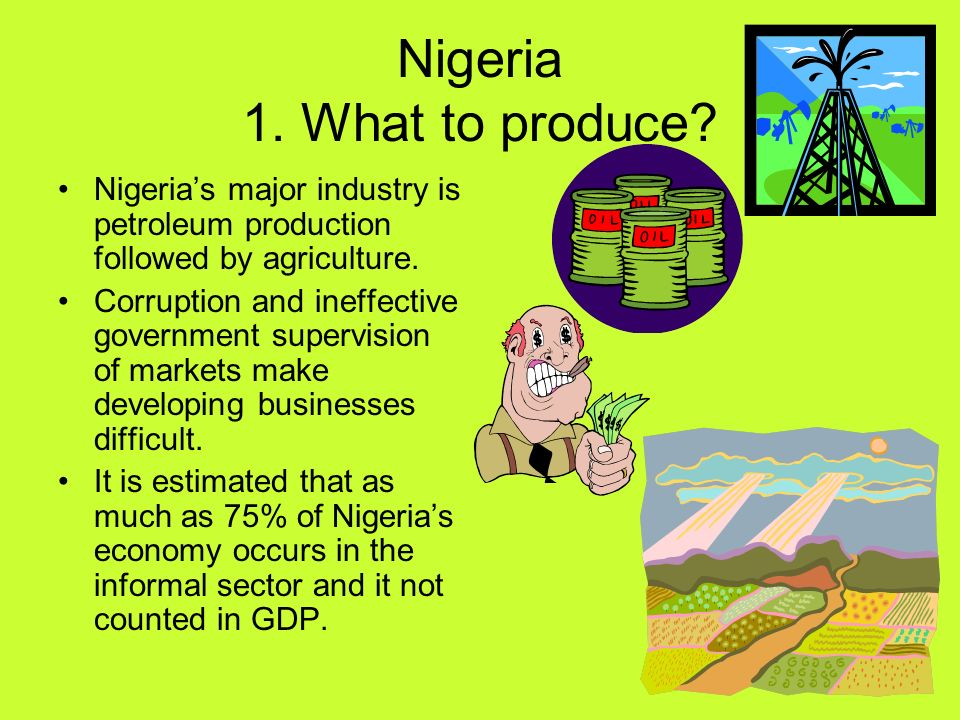 Nigeria 1. What to produce