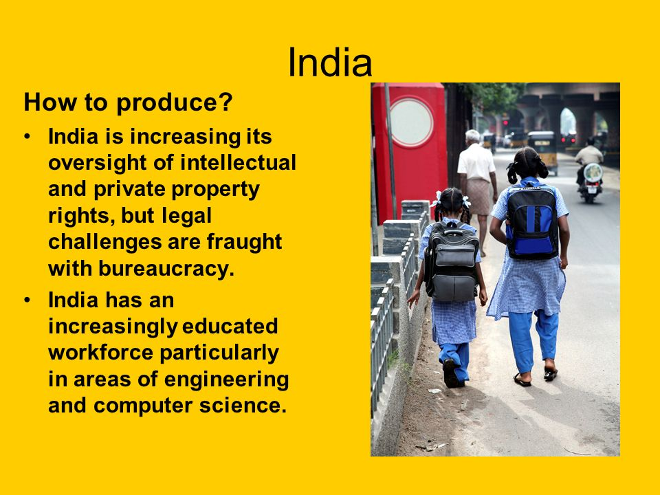India How to produce