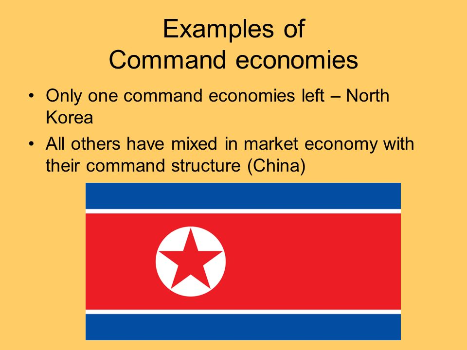 Examples of Command economies