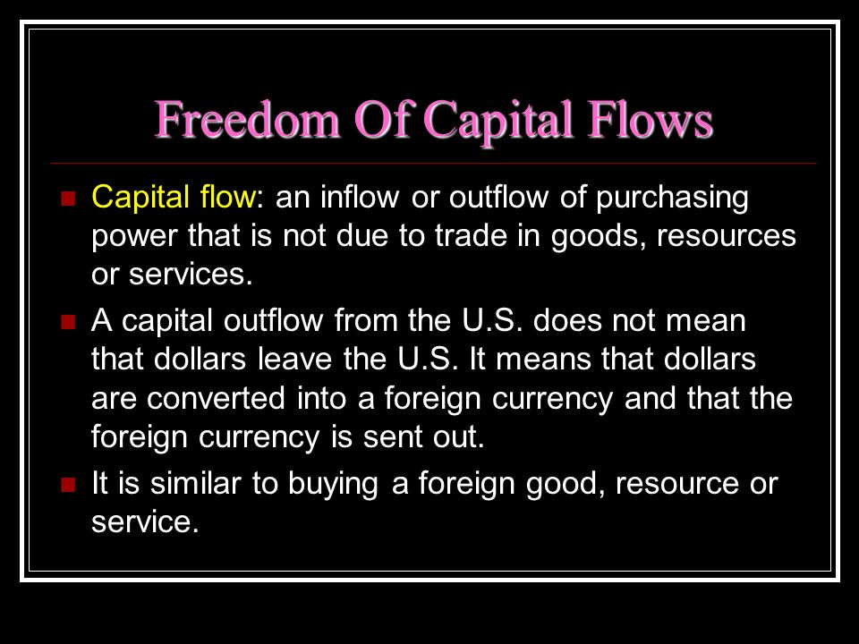 Freedom Of Capital Flows