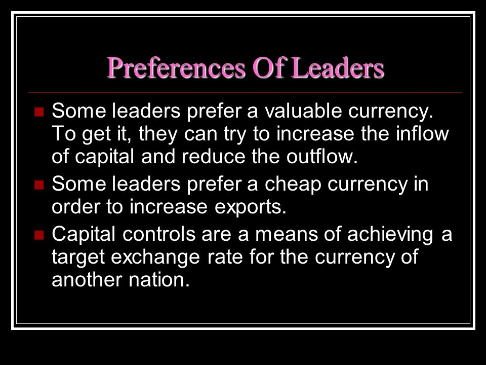 Preferences Of Leaders