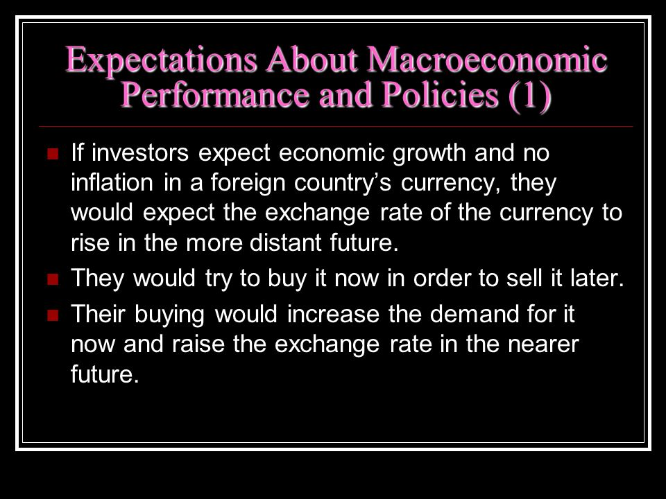 Expectations About Macroeconomic Performance and Policies (1)