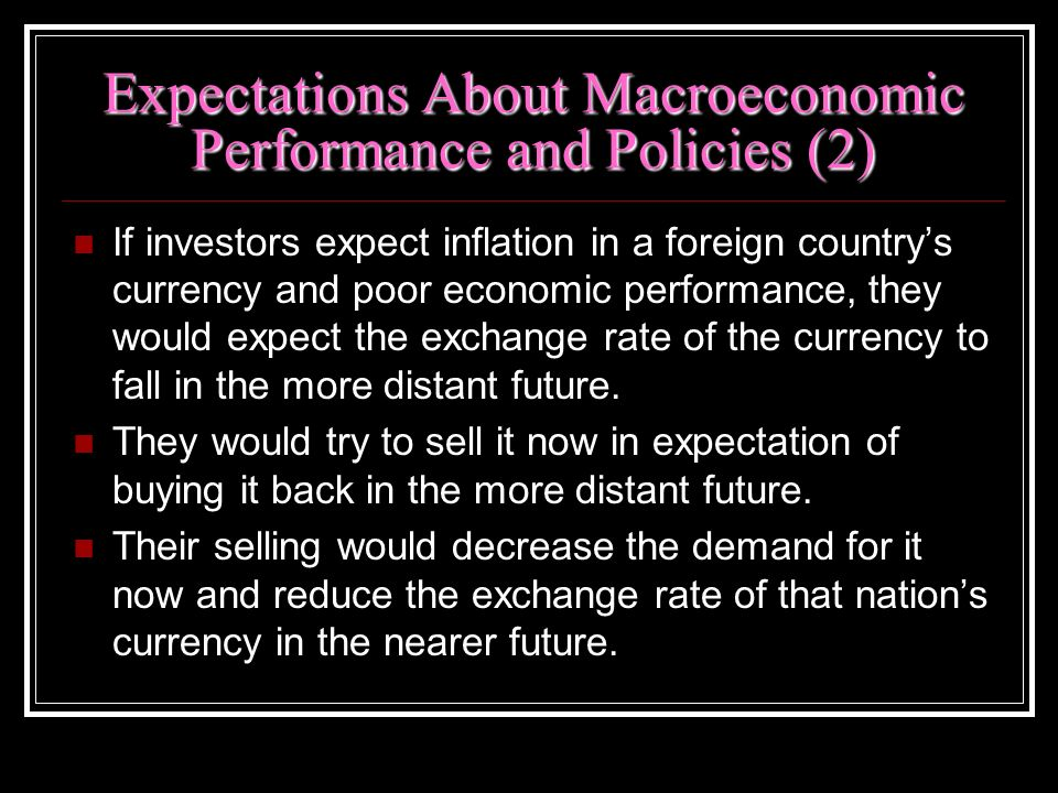 Expectations About Macroeconomic Performance and Policies (2)