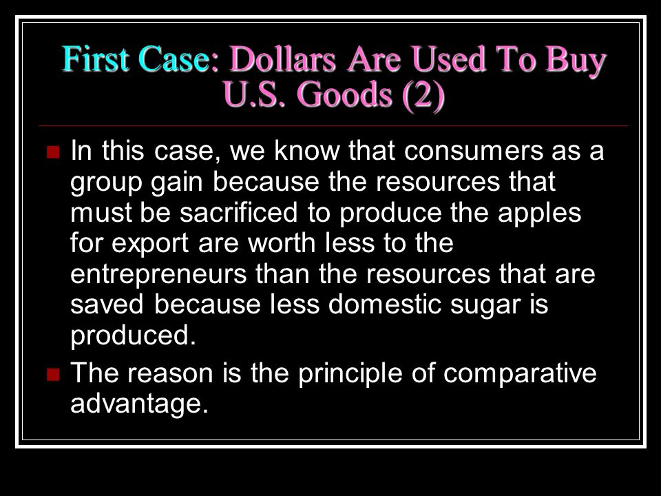First Case: Dollars Are Used To Buy U.S. Goods (2)