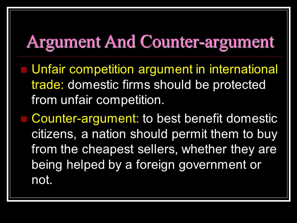 Argument And Counter-argument